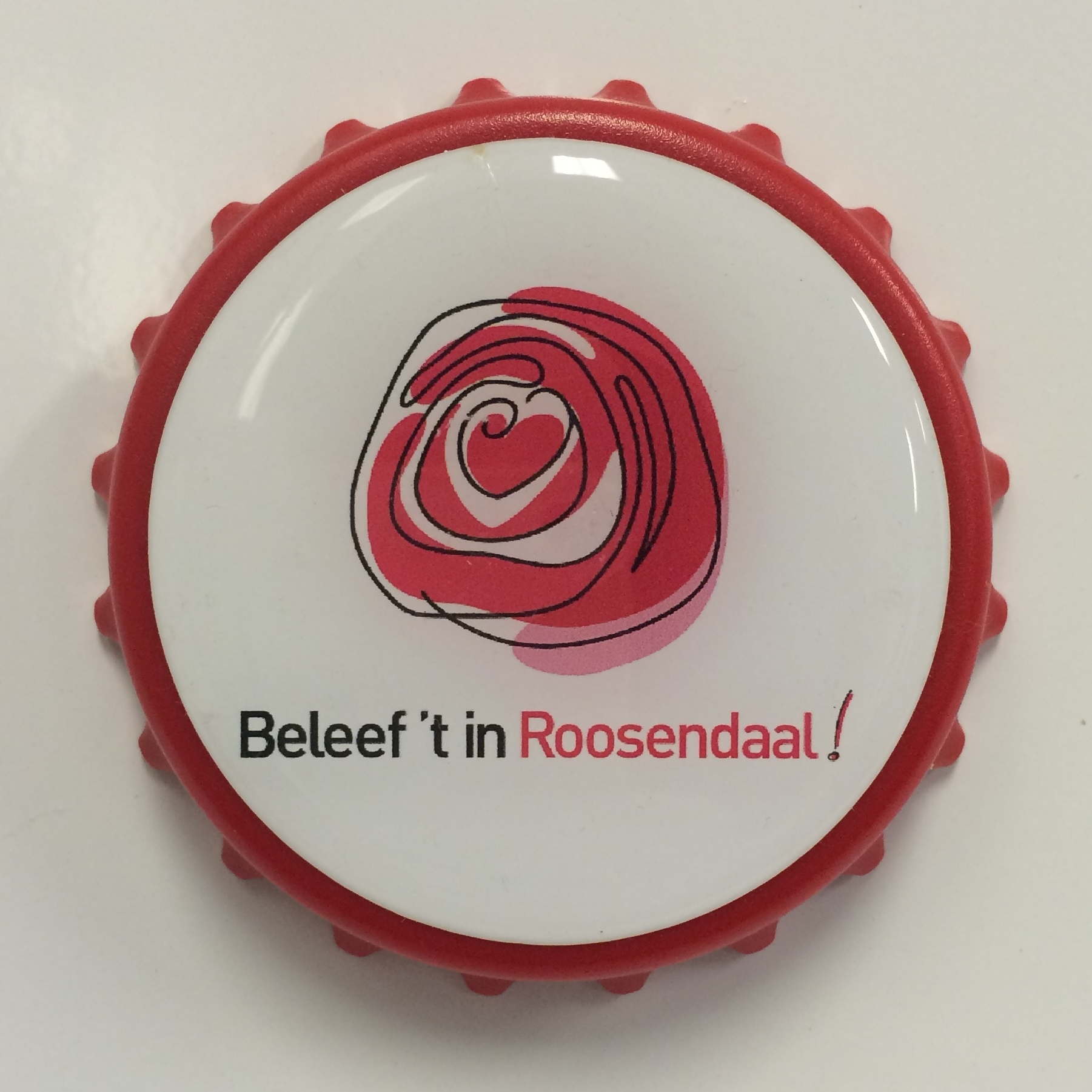 Flesopener rood Beleef't in Roosendaal