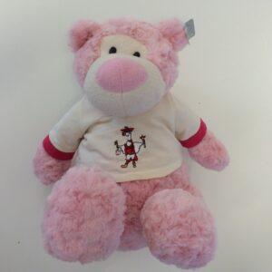 Knuffel roze groot