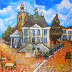 Raadhuis als van Gogh
